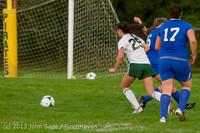 8658 Girls Soccer v Life-Chr 092313