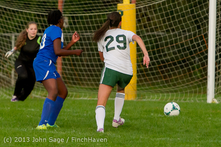8667 Girls Soccer v Life-Chr 092313