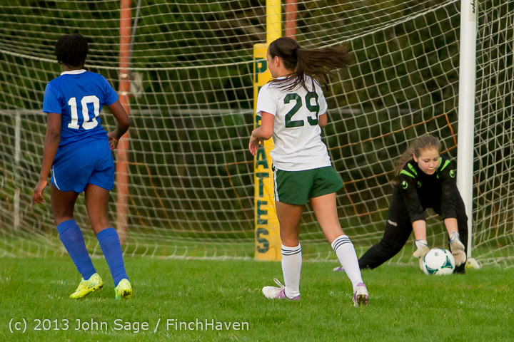 8672 Girls Soccer v Life-Chr 092313