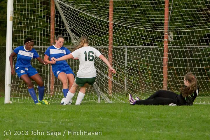 8689 Girls Soccer v Life-Chr 092313