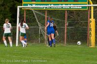 8784 Girls Soccer v Life-Chr 092313