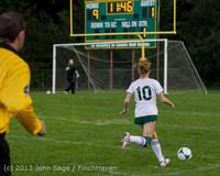 8929 Girls Soccer v Life-Chr 092313