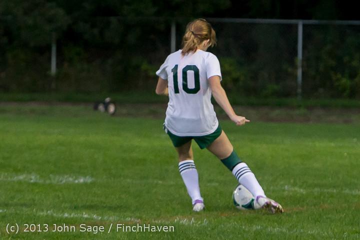 8931 Girls Soccer v Life-Chr 092313