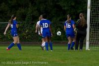8967 Girls Soccer v Life-Chr 092313