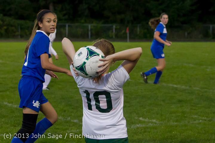 8974 Girls Soccer v Life-Chr 092313