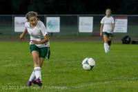 9023 Girls Soccer v Life-Chr 092313