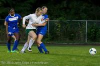 9043 Girls Soccer v Life-Chr 092313