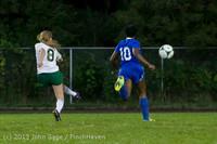 9092 Girls Soccer v Life-Chr 092313