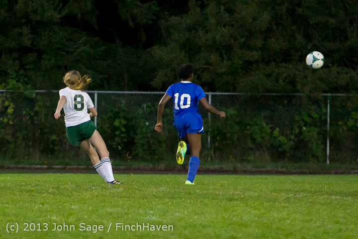 9093 Girls Soccer v Life-Chr 092313