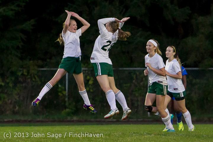 9110 Girls Soccer v Life-Chr 092313