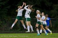 9111 Girls Soccer v Life-Chr 092313