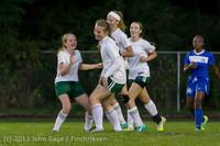 9114 Girls Soccer v Life-Chr 092313
