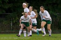 9119 Girls Soccer v Life-Chr 092313