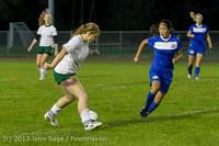 9130 Girls Soccer v Life-Chr 092313
