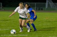 9135 Girls Soccer v Life-Chr 092313