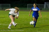 9137 Girls Soccer v Life-Chr 092313