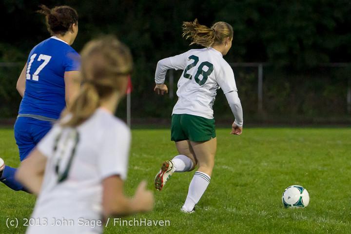 9141 Girls Soccer v Life-Chr 092313