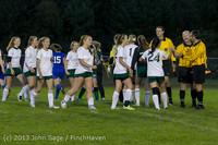 9191 Girls Soccer v Life-Chr 092313