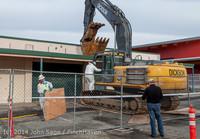 0394 B Bldg Demolition Day one 01152014