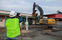 0400 B Bldg Demolition Day one 01152014