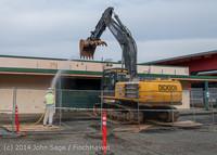 0401 B Bldg Demolition Day one 01152014