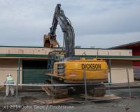 0405 B Bldg Demolition Day one 01152014