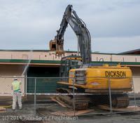 0407 B Bldg Demolition Day one 01152014