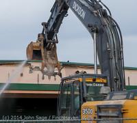 0409 B Bldg Demolition Day one 01152014