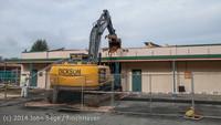 0428 B Bldg Demolition Day one 01152014