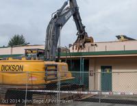 0443 B Bldg Demolition Day one 01152014
