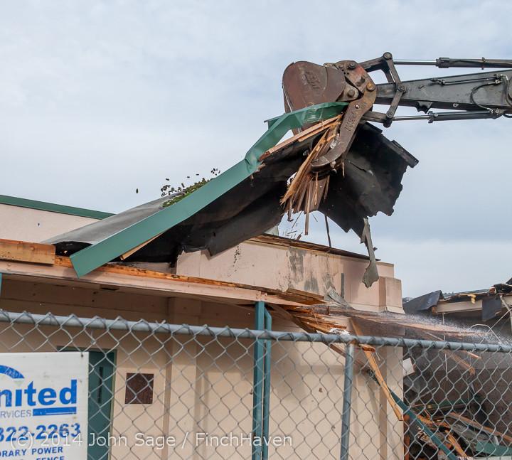 0518 B Bldg Demolition Day one 01152014