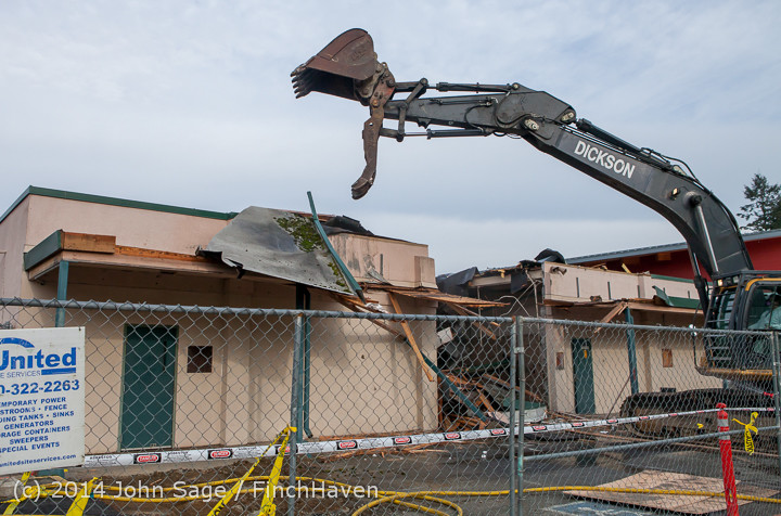 0523 B Bldg Demolition Day one 01152014
