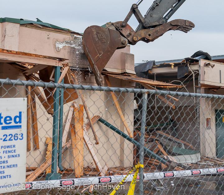 0545 B Bldg Demolition Day one 01152014