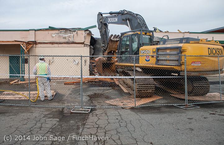 0585 B Bldg Demolition Day one 01152014
