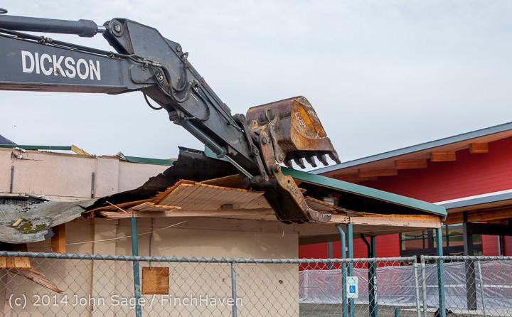 0630 B Bldg Demolition Day one 01152014
