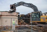 0672 B Bldg Demolition Day one 01152014