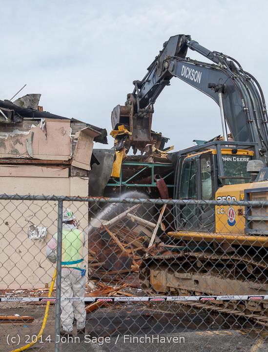 0727 B Bldg Demolition Day one 01152014