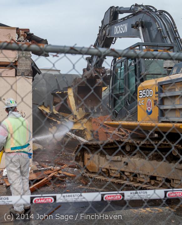 0740 B Bldg Demolition Day one 01152014