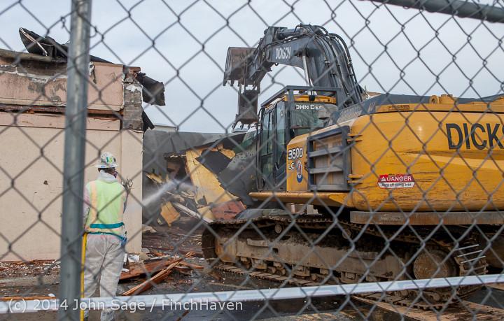 0748 B Bldg Demolition Day one 01152014