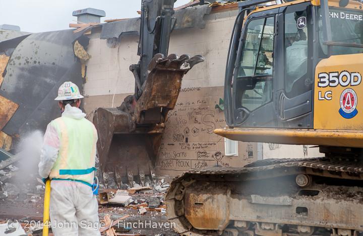 0798 B Bldg Demolition Day one 01152014