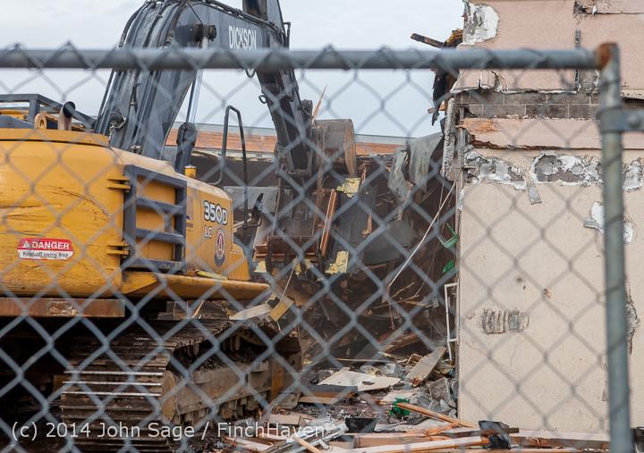 0829 B Bldg Demolition Day one 01152014