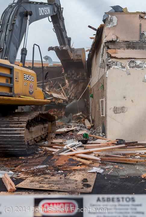 0831 B Bldg Demolition Day one 01152014