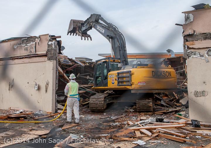 0845 B Bldg Demolition Day one 01152014