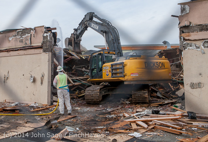 0849 B Bldg Demolition Day one 01152014