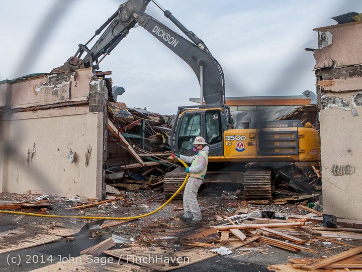 0856 B Bldg Demolition Day one 01152014