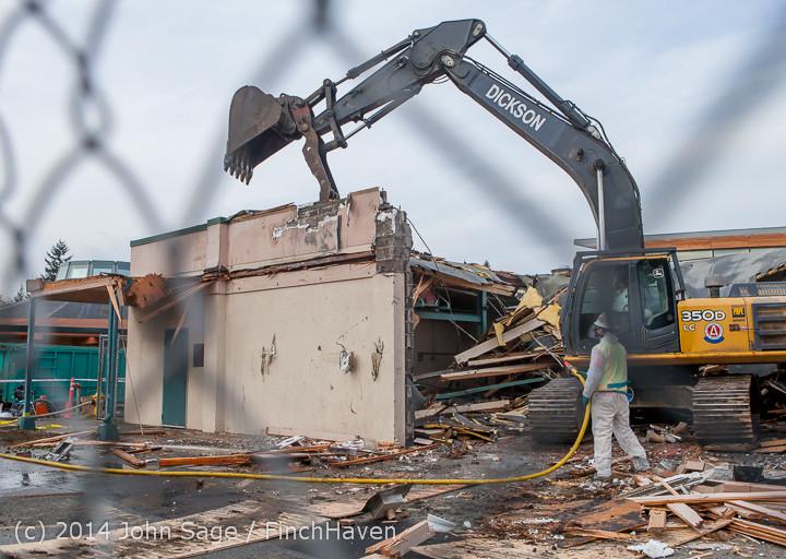 0871 B Bldg Demolition Day one 01152014