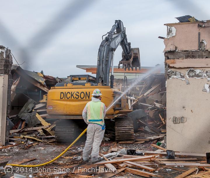 0906 B Bldg Demolition Day one 01152014