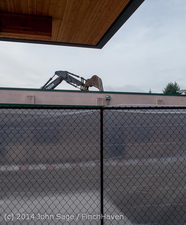 0916 B Bldg Demolition Day one 01152014