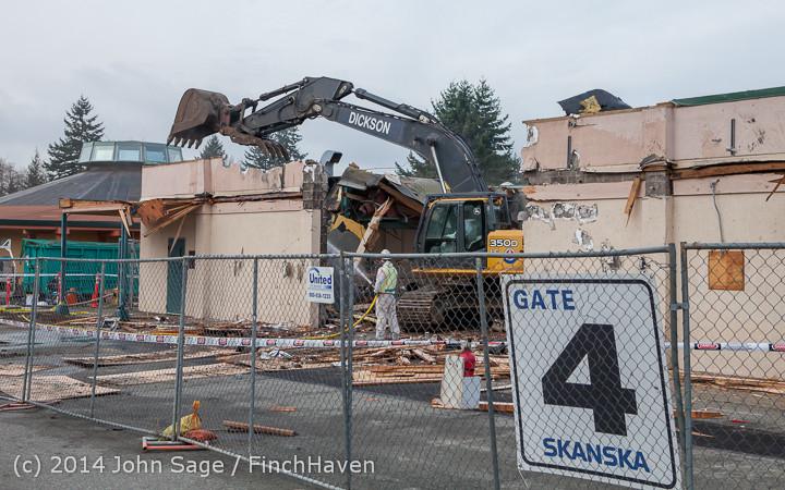 0919 B Bldg Demolition Day one 01152014