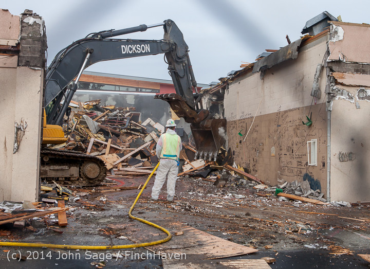 0973 B Bldg Demolition Day one 01152014